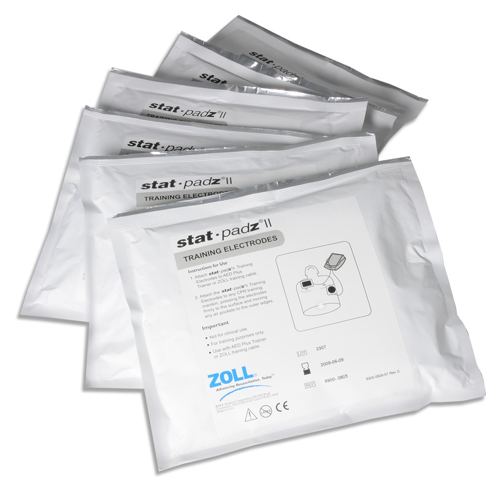 ZOLL AED Plus TRAINING Electrode Stat Padz II
