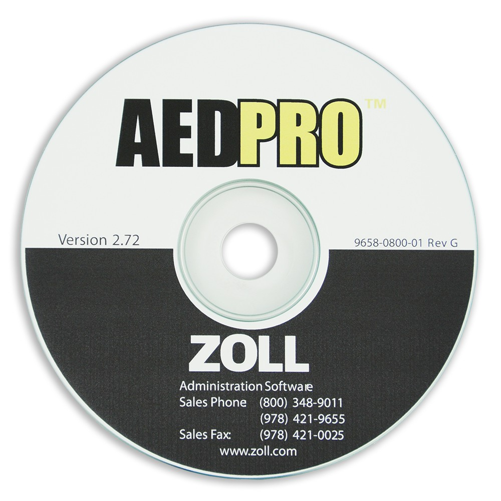 ZOLL AED PRO (ZAS) Admin Software CD