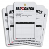 AED CHECK Tag (5 pack) - Now Improved!